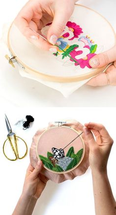 Want to try hand embroidery? #embroidery #handembroidery #embroideryart #hoopart