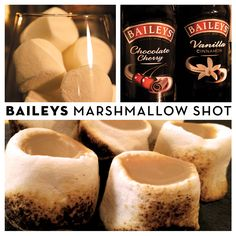 Toast your #Friendsgiving party with a Marshmallow Shot with Baileys!