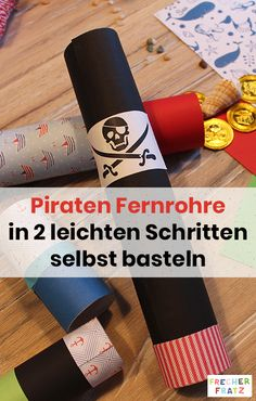 Crafts on the pirate's birthday Make your own telescopes! On the birthday of pirate children, you can make a great pirate costume with the little … Pirate Birthday, Birthday Crafts, It's Your Birthday, Make Your Own, Make It Yourself, How To Make, Ideas Paneles, Stranger Things Funny, Pirate Hats