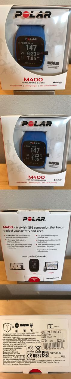 GPS and Running Watches 75230: New! Polar M400 Sports Watch, Gps And Heart Monitor Free Shipping! -> BUY IT NOW ONLY: $125 on eBay!