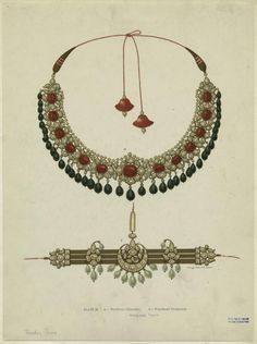 from Jaipur Enamels. Griggs, 1886.  Jewellery featured in this lithograph belongs to the Kasliwal family who have been making jewellery for Indian Royals and nobility since the 17th century.
