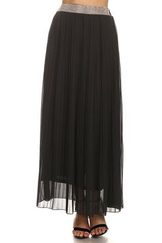 MeshMe Womens Belle - Pleated Maxi Skirt with Rhinestone Waist >>> This is an Amazon Affiliate link. Visit the image link more details.