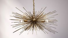 Gold Urchin Chandelier Lighting. $399.00, via Etsy.