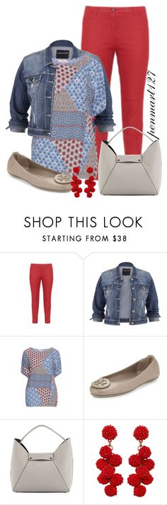 """Weekend Casual #Plussize"" by penny-martin ❤ liked on Polyvore featuring Samoon, maurices, Tory Burch, Neiman Marcus and Humble Chic"