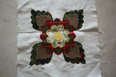 Sweet appliqué block for Janet, she wanted something to remind her of Christmas