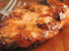Sweet Baby Ray's Crockpot Chicken: 4-6 chicken breast, 1 btl Sweet Baby Ray's sauce, 1/4 c vinegar, 1 tsp red pepper flakes, 1/4 c brown sugar, 1 tsp garlic powder. Mix everything but chicken. Place chicken in crockpot (frozen is ok). Pour sauce mixture over chicken. Cook on low 4-6 hours.. - foodandsome