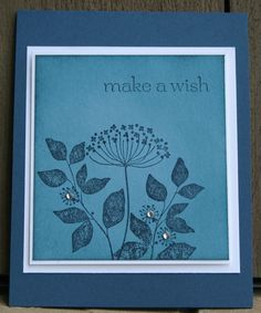 Stampin Up Summer Silhouettes Make a Wish Birthday Card