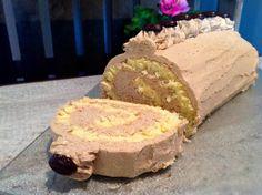 Rouleau d& moka - Backen - Mocha, Nougat Torte, German Baking, Foundant, Birthday Cakes For Women, Cakes And More, Christmas Desserts, Dessert Table, Yummy Cakes