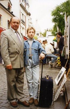 Alexei Mishin, great coach, great man, with the little Evgeny