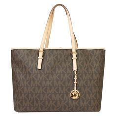 Michael Michael Kors Jet Set Travel Large Saffiano Leather Logo