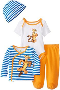 Amazon.com  Disney Baby-Boys Newborn Tigger 4 Piece Gift Set 2ffb55c1c