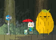 totoro adventure time pixel animation yes Pixel Kawaii, Pixel Art, Adventure Time Funny, Adveture Time, Arte 8 Bits, Land Of Ooo, Desenhos Cartoon Network, Art Tumblr, Finn The Human