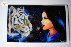 Digital print - Acrylic on canvas print - Original Art - Northern lights - Space Art - Galaxy - Art print by IvonaKrastanova on Etsy