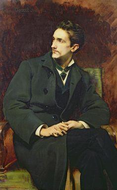 monsieurlabette: Henri-Lucien Doucet (1856-1895), Portrait du Comte Robert de Montesquiou - 1879