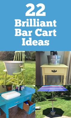 22 Backyard Drink Carts You Didn't Know You Could Upcycle