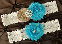 Aqua Lavender Lace Rhinestone Custom Wedding Garter Vintage Rustic Shabby Chic coral Rhinestone Turquoise