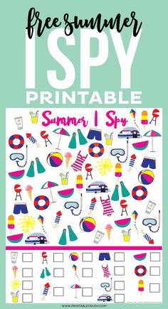This adorable I Spy Printable will keep the kids busy for a bit during summer vacation!