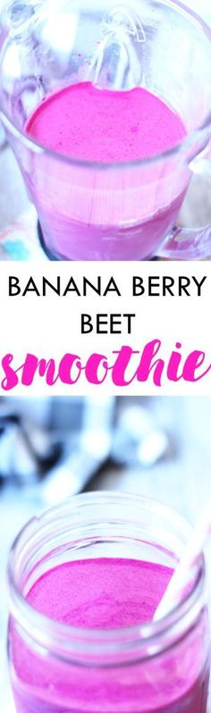 Load up on all your summer fruits and vegetables with this lightly sweet Banana Beery Beet Smoothie! | Lean, Clean, & Brie