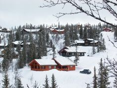 NORWAY: A typically modern Norwegian mountain 'village', here in  Aurdal.