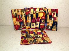 Wine Glass Coasters by PatchworkByPaula on Etsy, $8.00