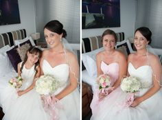 bride with her flowergirl and a brides maid