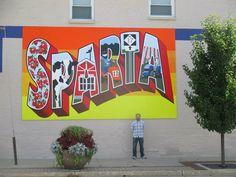 This mural is x in Sparta, Michigan Sparta Michigan, Fine Art, Visual Arts