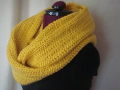 Crochet Circle Scarf by BFCouture on Etsy, $50.00