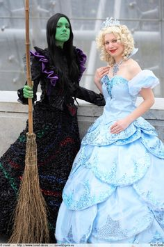 Elphaba and Glinda I by ~MissMindCrush  sc 1 st  Pinterest & 349 best Wicked!! images on Pinterest | Musical theatre Musicals ...