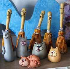 odd things | Flickr - Photo Sharing! Clay brooms cats