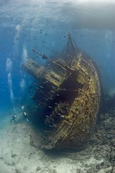 photograph of a ship wreck