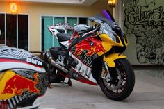 BMW S1000RR Red Bull by Hug Sticker Customs