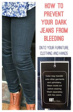 How to prevent dark jeans from fading onto your furniture, clothing and hands. An easy trick to set the dye.