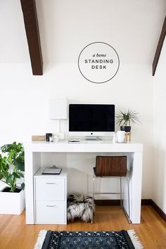 A Chic Home Office With A Standing Desk From Hayneedle | Copycatchic Luxe  Living For Less