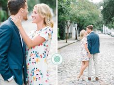 Adam + Chrissy's light, bright and airy romantic downtown Charleston engagement photos!   Aaron and Jillian Photography