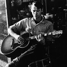 John Fahey created a new, enduring vocabulary for acoustic solo guitar—connecting folk/blues/Indian raga and the advanced harmonies of modern composers. Fahey also a precise fingerpicker addicted to the mystery of the blues, a passion reflected in apocryphal album titles such as The Transfiguration of Blind Joe Death, from 1967. Fahey endured illness and poverty in the 1990s, but re-emerged to a new wave of acclaim — until his death in 2001.