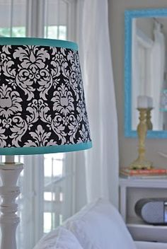 need to recover a lamp shade, like this idea
