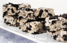 Cookies & Creme Rice Krispies from @Julie Chiou {Table for Two} #bars #desserts