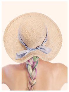 Hoge hoeden - Wide brimmed hat, Straw hat, Summer hat, sun hat,B - Een uniek product van justinehats op DaWanda