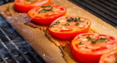 Try this recipe for Cedar Planked Basil Tomatoes and add a sweet smokey flavor to your tomatoes, yum!