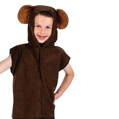 9db95187411 Monkey Fancy Dress T-shirt Costume for Kids Lite One Size 4 to 8 Years Old  for sale online
