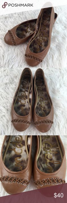 💞SALE💞 Sam Edelman Leather Camel Braided Flats Amazing Sam Edelman Leather Camel Braided Flats Sam Edelman Shoes Flats & Loafers