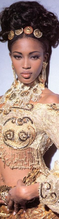 Naomi Campbell for Versace...BozBuys Budget Buyers Best Brands! ejewelry & accessories...online shopping http://www.BozBuys.com