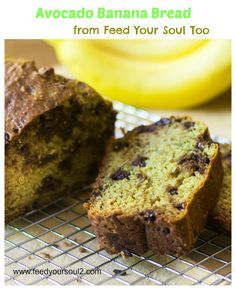 Avocado Banana Bread from Feed Your Soul Too Avocado Banana Bread, Avocado Cake, Healthy Banana Bread, Baking Recipes, Cookie Recipes, Dessert Recipes, Bread Recipes, Dessert Bread, Fun Recipes