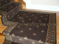Stair Runner Landing Installations Stair Runner Installed with a custom fabricated landing creating a continuous installation on the staircase. All installations and fabrication work by John Hunyadi, The Stair Runner Store Oxford, CT www.StairRunnerStore.com Click to purchase this stair runner product at StairRunnerShop.com