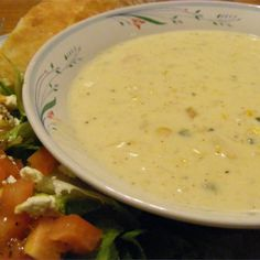 """Poblano Corn Chowder 