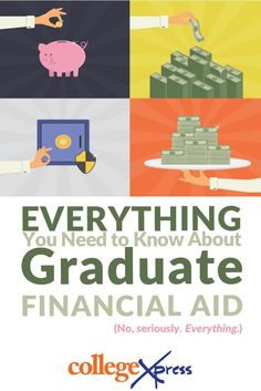 A look at paying for grad school from grants fellowships and scholarships to loans federal forgiveness programs and much Financial Aid For College, Scholarships For College, Education College, College Life, College Students, School Loans, Pa School, School Admissions, School Daze