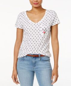 Maison Jules Cotton Watermelon Graphic T-Shirt, Only at Macy's