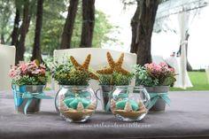 Coral Reef Wedding Centerpieces | Sea shells decor