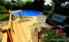 Above Ground Pool Decks, In Ground Pools, Outside Living, Outdoor Living, Outdoor Decor, Patio Builders, Buy A Pool, Design Jardin, Garden Design