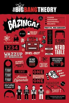 Big Bang Theory - Infographic - Official Poster. Official Merchandise. Size: 61cm x 91.5cm. FREE SHIPPING                                                                                                                                                                                 More